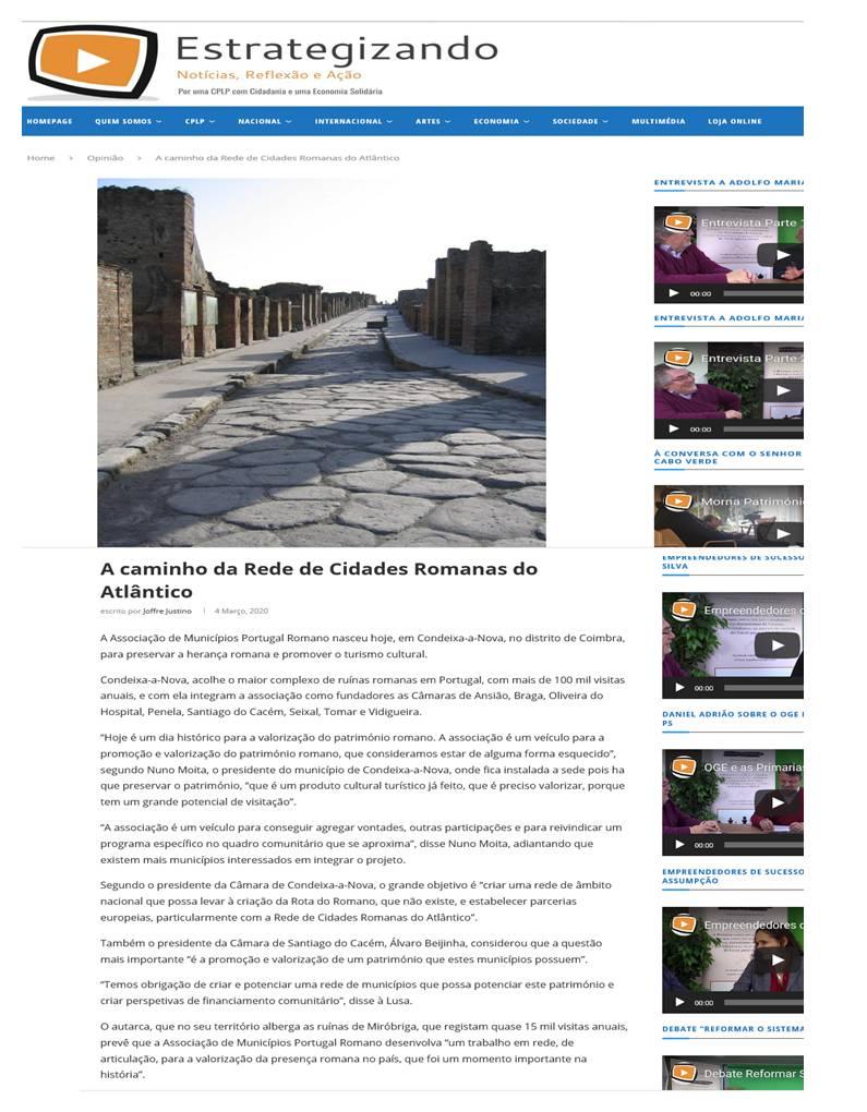 Entrevista com D. Nuno Moita, presidente da Câmara de Condeixa-a-Nova